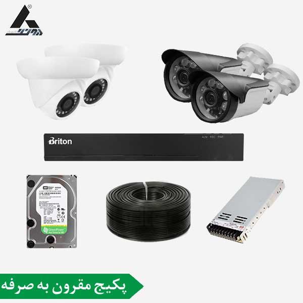 پکیج دوربین مداربسته 4 کانال سری مقرون به صرفه پکیجی کاملا اقتصادی برای مصارف با حداقل هزینه میباشد که توسط واحد فنی دیجی آونگ جمع آوری شده تا در کنار هزینه کم بهترین کیفیت را در اختیار شما مشتریان قراردهیم.این پکیج از یک دستگاه ضبط تصاویر 4کانال 2مگاپیکسلی مدل برایتون که دارای فرمت فشرده سازی H.264 با رزولوشن 1080P و 4عدد دوربین.2 عدد دام از برند یوشیتا مدل 1003 و 2 عدد بولت از برند یوشیتا مدل R6 که بدنه پلاستیکی و کیفیت تصویر 2مگاپیکسلی و لنز 3.6مگاپیکسلی بهره میبرد. همچنین پکیج دوربین مداربسته 2 کانال شامل انتقال تصویر رایگان و یکسال گارانتی می باشد