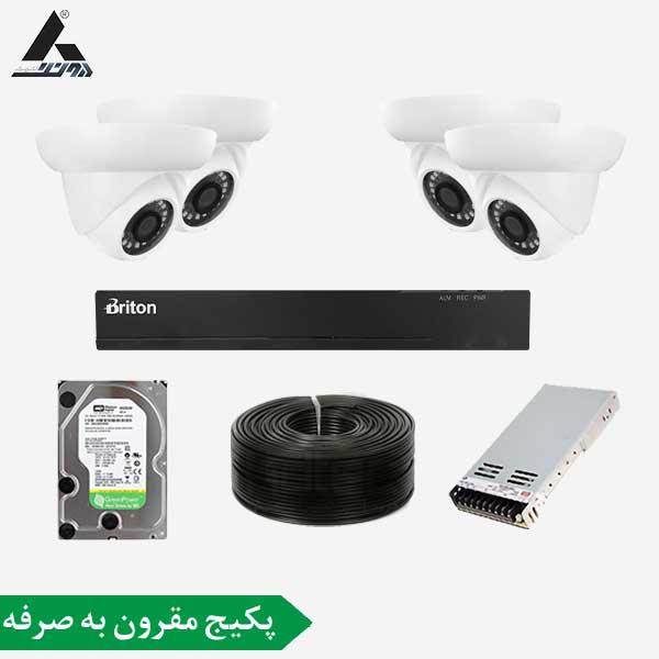 پکیج دوربین مداربسته 4 کانال سری مقرون به صرفه پکیجی کاملا اقتصادی برای مصارف با حداقل هزینه میباشد که توسط واحد فنی دیجی آونگ جمع آوری شده تا در کنار هزینه کم بهترین کیفیت را در اختیار شما مشتریان قراردهیم.این پکیج از یک دستگاه ضبط تصاویر 4کانال 2مگاپیکسلی مدل برایتون که دارای فرمت فشرده سازی H.264 با رزولوشن 1080P و 4عدد دوربین دام از برند یوشیتا مدل 1003 که بدنه پلاستیکی و کیفیت تصویر 2مگاپیکسلی و لنز 3.6مگاپیکسلی بهره میبرد. همچنین پکیج دوربین مداربسته 2 کانال شامل انتقال تصویر رایگان و یکسال گارانتی می باشد