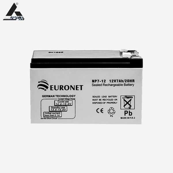 باتری 12ولت 7آمپر euronet